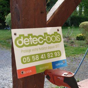 Traitement contre les vrillettes et les capricornes sur une charpente à Saint Jean de Marsacq dans les Landes