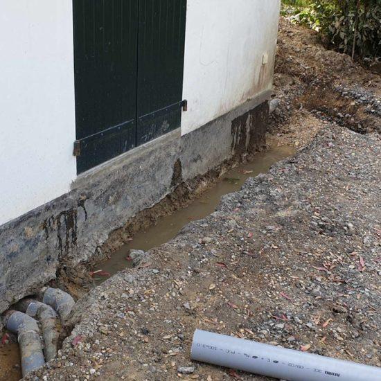 traitement de l'humidité dans les murs à Guéthary au Pays Basque