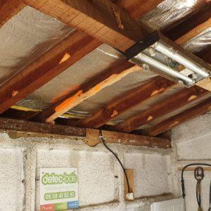 Traitement des bois de charpente d'une maison à Soustons dans le département des Landes