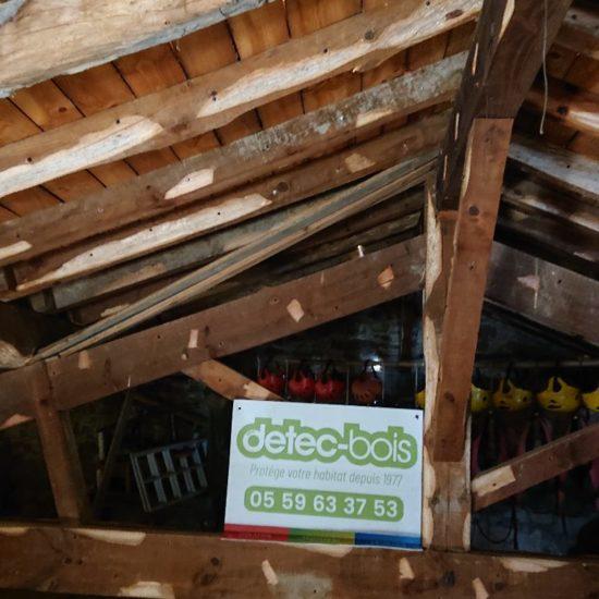 Traitement de charpente contre les vrillettes et les capricornes à Ascain au Pays basque