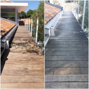 detec bois réalise le nettoyage des terrasses en bois decapage des sols au pays basque