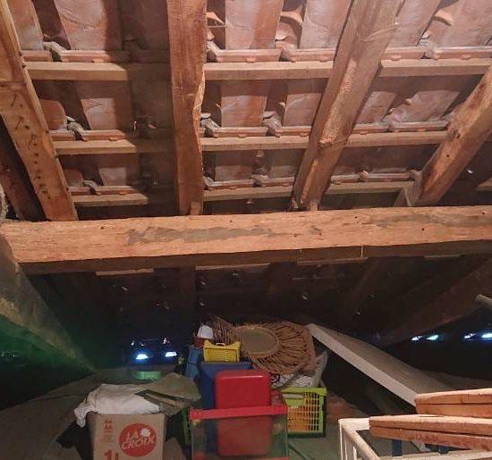 detec-bois traite le charpente d'une maison à Capbreton dans les Landes