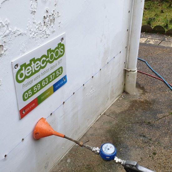detec bois réalise le traitement des murs contre l'humidité dans une maison de Bayonne au Pays basque