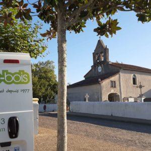 detec bois traite les termites à l'église de Mouguerre