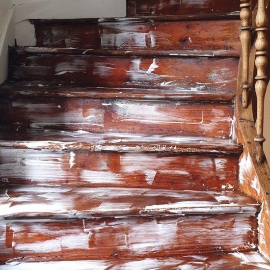 traitement d'un escalier à Saint Vincent de Tyrosse