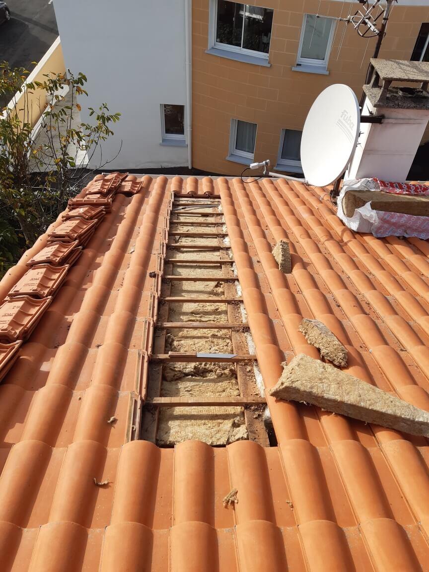 Isolation thermique de toiture par l'extérieur à Urrugne