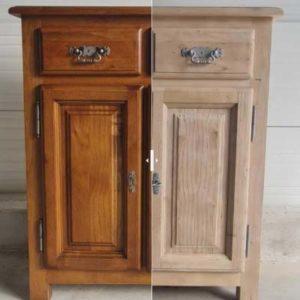 Aerogommage, décapage des meubles en bois